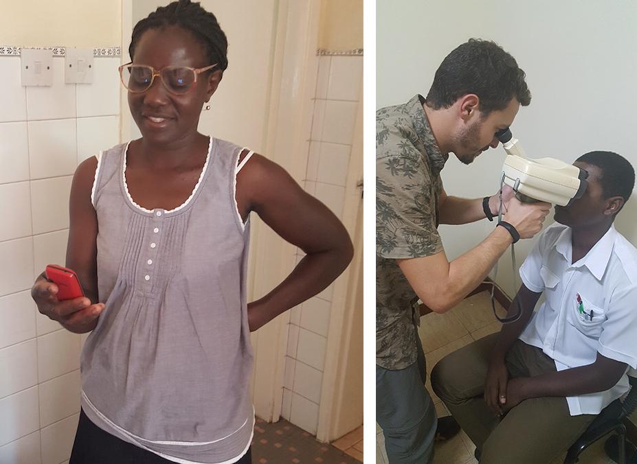 Gafas donadas en Mozambique