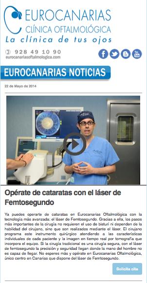 Eurocanarias Oftalmológica informa a sus pacientes de sus últimas novedades